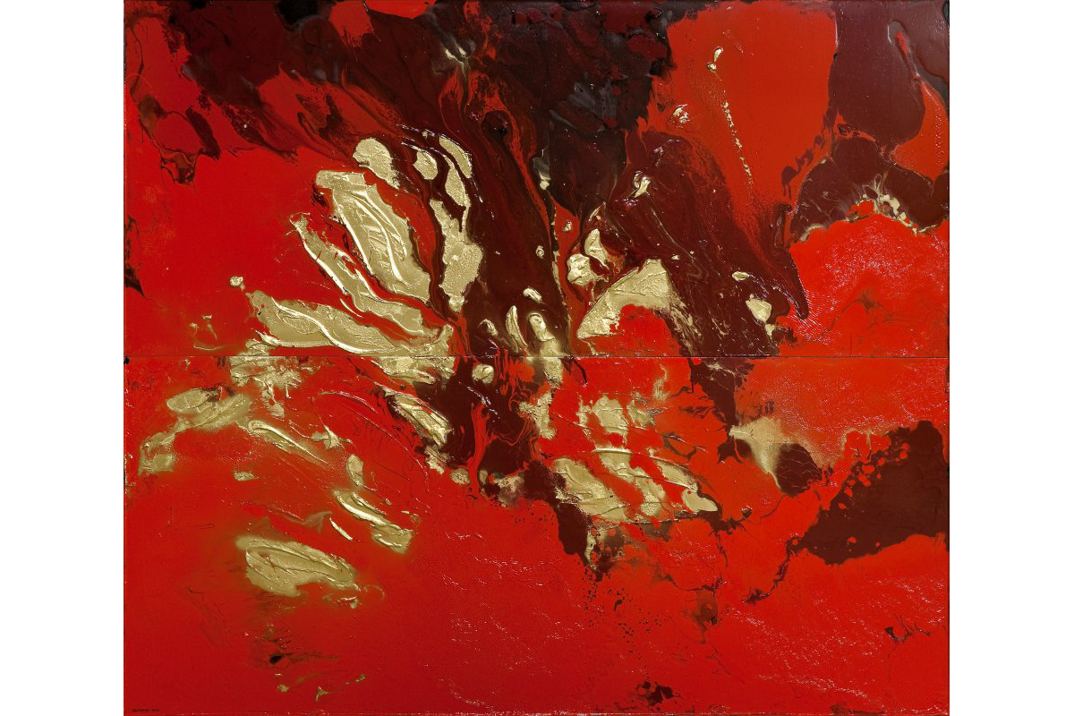 Silvio Rosso, « About red and gold : transiti 1 », 2009